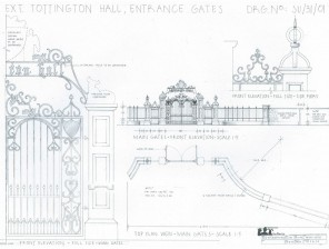 Exterior-Tottington-Hall-Entrance-Gates-Drawing-4