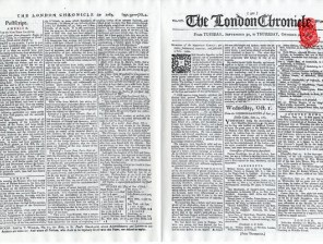 Newspapers-The-London-Chronicle-front