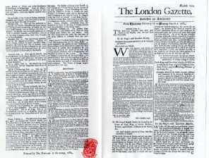 Newspapers-The-London-Gazette-front